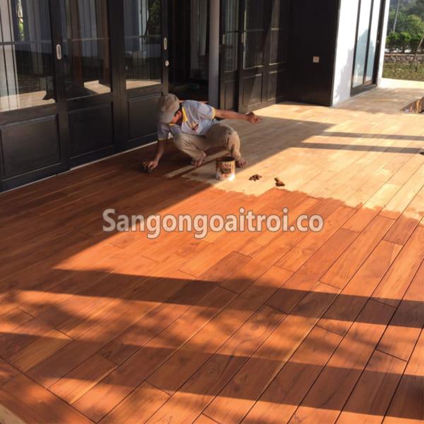 Sàn gỗ hành lang